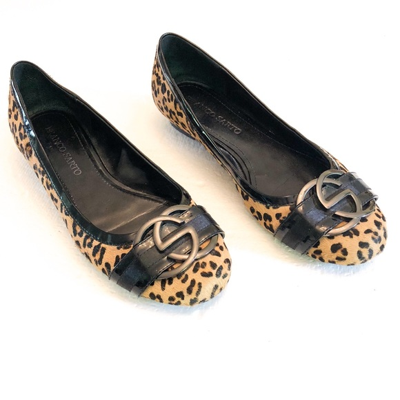 67314d27f31 Franco Sarto Shoes - Franco Sarto Calf Hair Leopard Print Loafer Flat 9